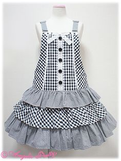angelic pretty Little Dresses, Little Girl Dresses, Girls Dresses, Frock Patterns, Girl Dress Patterns, Frocks For Girls, Kids Frocks, Toddler Fashion, Kids Fashion