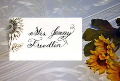 Calligraphy Place Cards Escort Cards