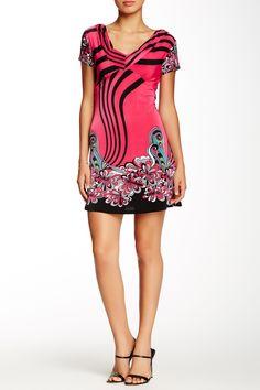 V-Neck Print Dress by Papillon on @HauteLook