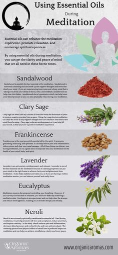 Using #EssentialOils During #Meditation - Organic Aromas #Info-graphic Read at : diyavdiy.blogspot.com
