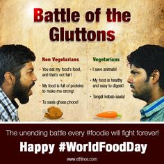 The time is always right for food, and it's also always right for a little bit of banter! So, on #WorldFoodDay, tell us, whose side are you on? P.S. Let's make food, not war. Happy #WorldFoodDay!