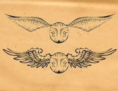 OMG OMG OMG. Maybe I want this on my collar bones. After all, I wanted wings on my chest/collar bones. Golden snitch tattoo, HP, Harry Potter tattoo