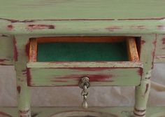 how to: paint and distress inexpensive dollhouse furniture