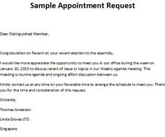Appointment Letters On Pinterest Business