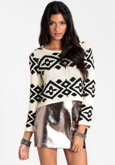 Feeling Bold Metallic Miniskirt #threadsence #fashion
