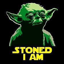 """2.5"""" Funny Marijuana sticker / decal. STONED YODA."""