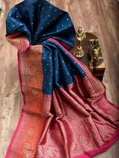 Sacred Weaves - Shop for Exquisite Banarasi Sarees Online Indian Bridal Sarees, Indian Silk Sarees, Wedding Silk Saree, Soft Silk Sarees, Blue Silk Saree, Kanjivaram Sarees Silk, Indian Fashion Dresses, Indian Outfits, Traditional Silk Saree