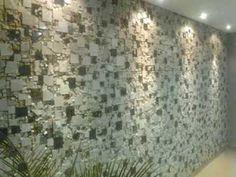 Parede com Mosaico de mármores - 2
