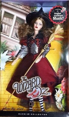 WICKED WITCH OF THE EAST Wizard of Oz Barbie 2008 Mattel 50th N6588 NIB NRFB