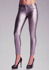 Coated Iridescent Skinny Jeans