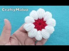 Easy Crochet Flower for beginners. Today we present an easy crochet flower. You can join the materials – it will look as great with crochet as with jewelry. Crochet Flower Tutorial, Crochet Flower Patterns, Crochet Blanket Patterns, Crochet Flowers, Crochet Stitches, Crochet Cap, Diy Crochet, Crochet Decoration, Crochet Videos