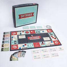 Daytrader board game design, by Italic