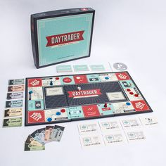 Daytrader board game design, by Italic