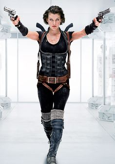 Milla Jovovich as Alice on Resident Evil
