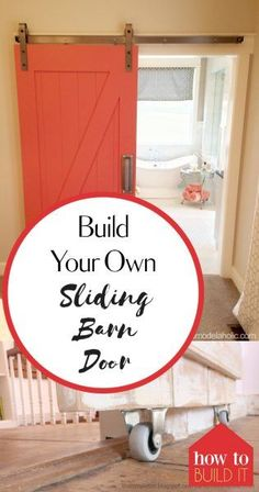 Build Your Own Sliding Barn Door| DIY Sliding Barn Door, How to Make Your Own Sliding Barn Door, DIY Home, DIY Home Decor Projects, Home Improvement Projects and Hacks, Popular Pin
