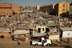 Shacks stretch on to the horizon in Alexandra Township in Johannesburg (GETTY), Telegraph African Countries, Countries Of The World, Residency Programs, Human Settlement, Nelson Mandela, South Africa, Dolores Park, Street View, Country