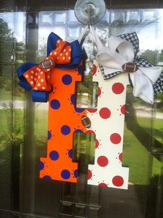 Custom Initial Door Hanger by WreathsnRainbows on Etsy, $28.00