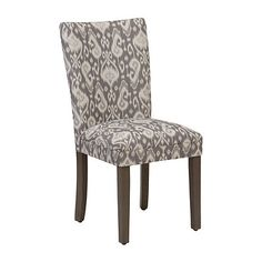 Gray and White Ikat Parsons Chair   Kirklands