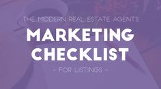The Modern Real Estate Agent's Marketing Checklist for Listings — RESAAS Blog