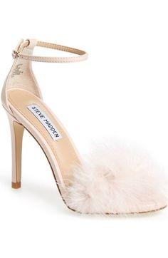 Steve Madden 'Scarlett' Marabou Evening Sandal (Women) available at #Nordstrom