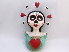 day of the dead doll with halo by amber leilani middleton, via Flickr