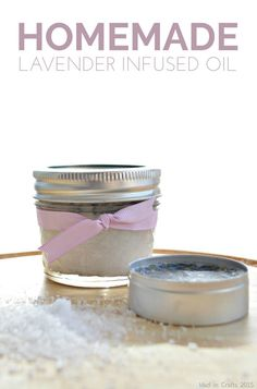 I discovered that you can easily make your own lavender-infused oil at home, and then you can use that infused oil as the base for a variety of homemade beauty products. Homemade Face Moisturizer, Face Scrub Homemade, Homemade Face Masks, Beauty Tips For Teens, Honey Hair, Infused Oils, Lavender Oil, Lavender Buds, Homemade Beauty Products