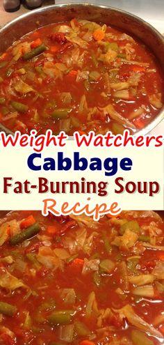 Cabbage Fat-Burning Soup Recipe - one pot recipes - Gesunde Essen Ideen Crock Pot Recipes, Ww Recipes, Skinny Recipes, Cooking Recipes, Healthy Recipes, Recipies, Diet Soup Recipes, Healthy Dishes, Healthy Soup