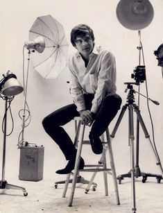 Real-life photographer David Bailey in the Vogue studio in Hanover Square, August 1965.