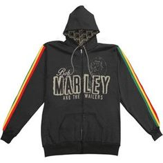 Bob Marley - Hooded Sweatshirts - Zippered Band $59.95  omg finally a BM and The Wailers hoodie.
