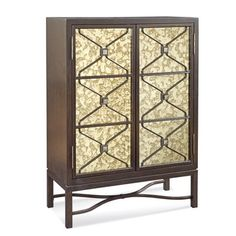 The Bassett Mirror Hampton bar cabinet is an exquisite mix of rich wood and metallic flair. Don't miss out on great prices for this standout piece at Beyonst Stores.