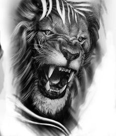 Lion Head Tattoos, Leo Tattoos, Baby Tattoos, Animal Tattoos, Tattos, Shiva Tattoo Design, Lion Tattoo Design, Tattoo Design Drawings, Wolf Pack Tattoo