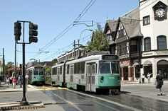 MBTA Green Line, Brookline, MA.....went right by my apt. on Beacon St....SO convenient!