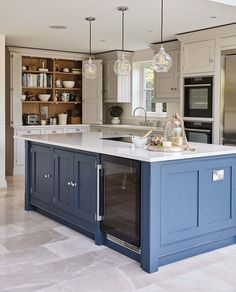 This blue shaker kitchen has been designed with family in mind, full of state of. - This blue shaker kitchen has been designed with family in mind, full of state of the art appliances - Kitchen Design Trends 2018, Best Kitchen Designs, Home Decor Kitchen, Kitchen Living, Kitchen Ideas, Diy Kitchen, Living Room, Family Kitchen, Kitchen Themes