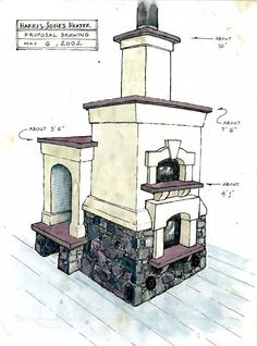Nice masonry stove design by Fisher Masonry in Sweden - rugged-life.com