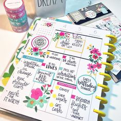 Mid Week in my Classic and Mini Happy Planners! It's been a busy week so far but these colors and florals are getting me through! Planner Layout, Planner Ideas, Life Planner, Bullet Journal Ideas Pages, Book Journal, Louis Vuitton Planner, Notebooks, Journals, Get My Life Together
