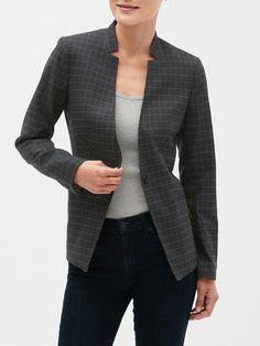 YUNY Womens Fold-Collar//Lapel Cardigan Formal Blazer Lounge Outwear Yellow S