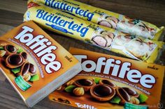 Toffifee chocolates – a sinful souvenir – Tasty-Sue - Mitbringsel Snack Recipes, Snacks, Pop Tarts, Caramel, Deserts, Brunch, Chips, Food And Drink, Tasty