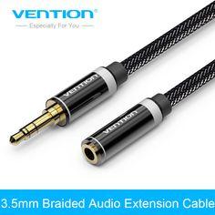 Convention 3.5mm Jack Mâle à Femelle Stéréo Aux Extension Câble 1 m/2 m/3 m/5 m pour iPhone iPod De Voiture Casque Nylon Tresse Audio Câble