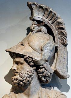 Mars, God of War -- Marble -- Century CE -- Roman National Museum, Rome, Palazzo Altemps. Greek Mythology Tattoos, Greek And Roman Mythology, Greek Gods, Roman Sculpture, Sculpture Art, Sculptures, Rome Antique, Art Antique, Roman History