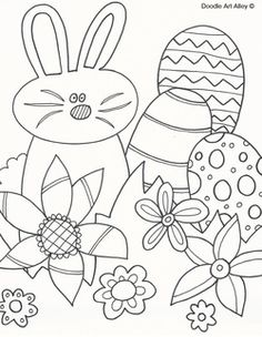 Free Easter Coloring Pages From Doodle Art Alley
