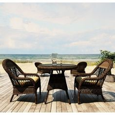 """Wicker Forever Patio 3 Pc Leona 30"""" Round Dining Set"""