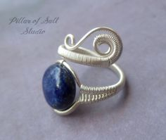 wire wrapped jewelry handmade, silver filled Wire Wrapped Ring, adjustable ring, sterling silver ring, gemstone ring, silver jewelry