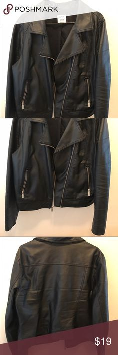 Old Navy motorcycle faux leather jacket size XL Awesome jacket! Great quality no tips or tears great condition. Used last season. Comfortable fit. Size XL. Old Navy Jackets & Coats