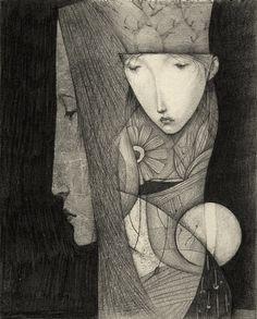 Nothing by Gustav Klim, Japanese illustrator (note: not 'the' Gustav Klimt) via…