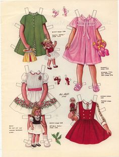 This paper doll is based on my youngest daughter, Korey's mother who is watching us from Heaven now. Pat met her at lots of paper doll conventions. Candy and my other daughter Helen would he…