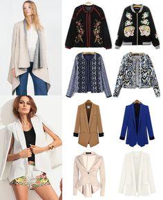·Colores, Tallas y Precio según el modelo· #Shalala #Ropa #Accesorios #Blazers #Blanco #Casual #BiColor #Bomber #Largo #Hombros #Sweater