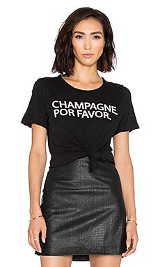 Chaser Champagne Por Favor Tee in Black