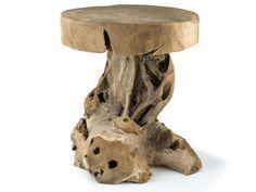 Teak Beistelltisch Couchtisch Hocker Nachttisch Telefontisch Wurzel Holz Unikat