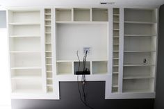 Chris Loves Julia: Our Styled Built In Billys - A DIY from start to finish Ikea hack built in. These two are awesome!