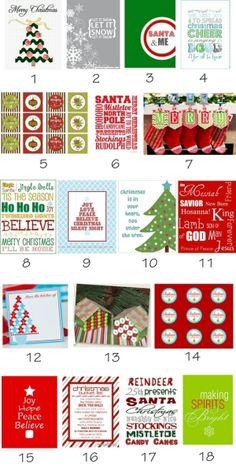Free Christmas Printables by sdezi21